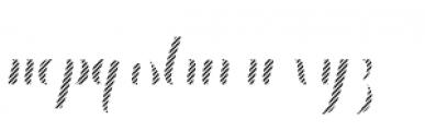 Chameleon Fill Stripe 4 Font LOWERCASE