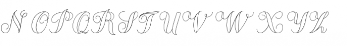Chameleon Outline 1 Font UPPERCASE
