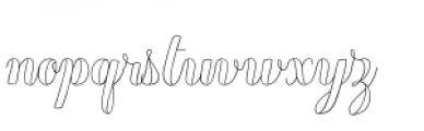 Chameleon Outline 1 Font LOWERCASE