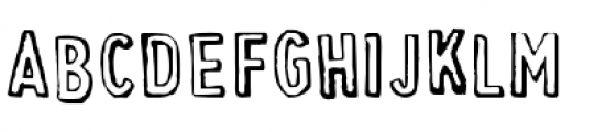 Cheapskate Outline Font LOWERCASE