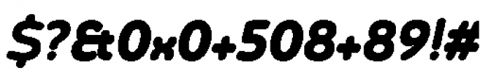 Chennai Black Oblique Font OTHER CHARS