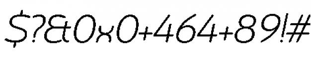 Chennai Light Oblique Font OTHER CHARS