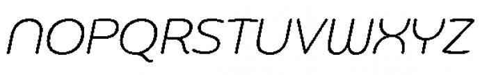 Chennai Light Oblique Font UPPERCASE