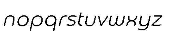 Chennai Light Oblique Font LOWERCASE