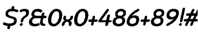 Chennai Medium Oblique Font OTHER CHARS