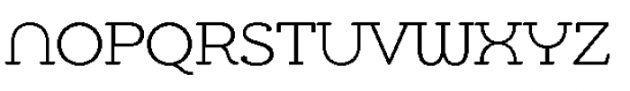 Chennai Slab Light Font UPPERCASE