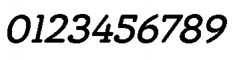 Chennai Slab Medium Oblique Font OTHER CHARS