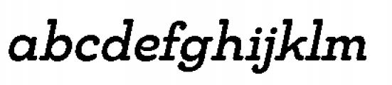 Chennai Slab Medium Oblique Font LOWERCASE