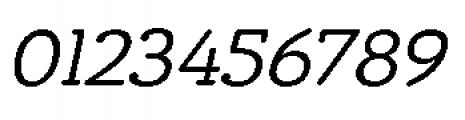Chennai Slab Regular Oblique Font OTHER CHARS
