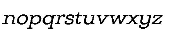 Chennai Slab Regular Oblique Font LOWERCASE