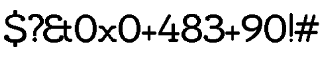 Chennai Slab Regular Font OTHER CHARS