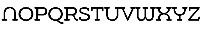 Chennai Slab Regular Font UPPERCASE