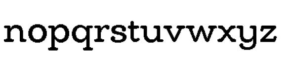 Chennai Slab Regular Font LOWERCASE