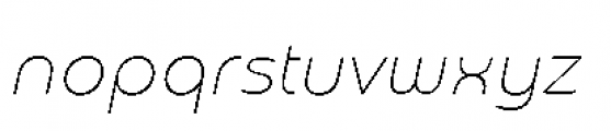 Chennai Thin Oblique Font LOWERCASE