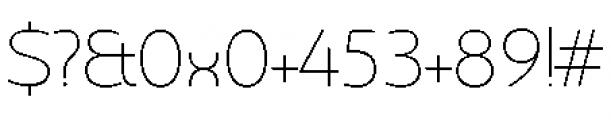 Chennai Thin Font OTHER CHARS