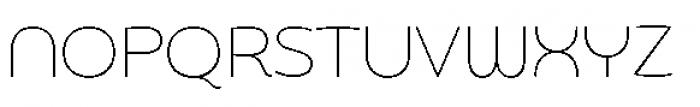 Chennai Thin Font UPPERCASE