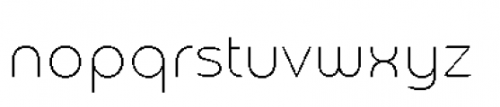 Chennai Thin Font LOWERCASE