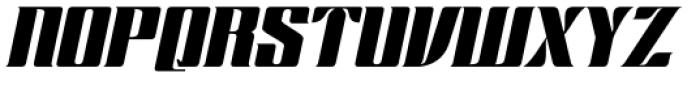 Chopper Biform Italic Font UPPERCASE