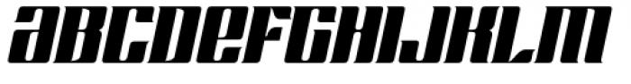 Chopper Biform Italic Font LOWERCASE