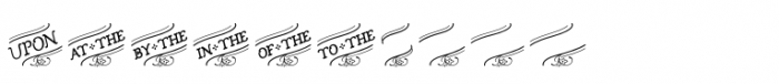 Church in the Wildwood Catchwords Inspired 1 Font UPPERCASE