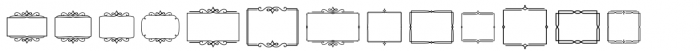Church in the Wildwood Extras Frames Font LOWERCASE