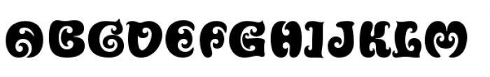 Churchward Ta Tiki Font LOWERCASE