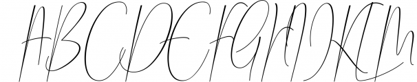 Chalisha Modern Calligraphy Font UPPERCASE