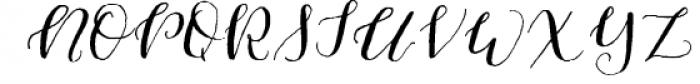 Cherokee Rose Calligraphy Script Font UPPERCASE