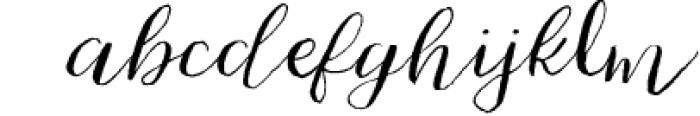 Cherokee Rose Calligraphy Script Font LOWERCASE