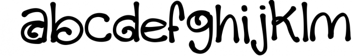 Chocolate Fudge Swirl Font LOWERCASE