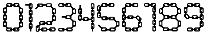 CHAINS  Color Fill Font OTHER CHARS