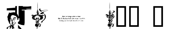 CHASE ZEN JINGLETRUCK KARACHI Font OTHER CHARS