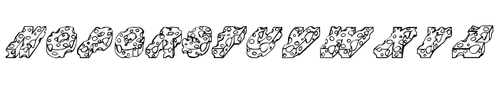 CHEESE Font UPPERCASE