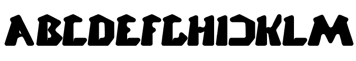 CHUNKY BAR Font UPPERCASE