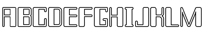 Chain Reaction Outline Font UPPERCASE