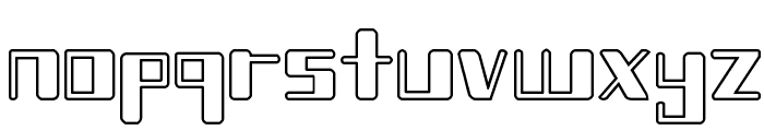 Chain Reaction Outline Font LOWERCASE