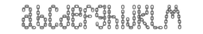 ChainFontOpen Font LOWERCASE