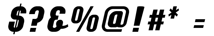 Chainexbold Font OTHER CHARS