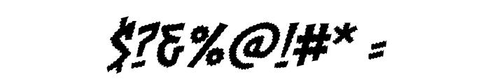 Chainsawz BB Italic Font OTHER CHARS