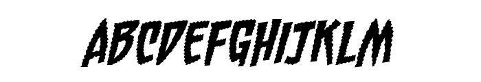 Chainsawz BB Italic Font UPPERCASE