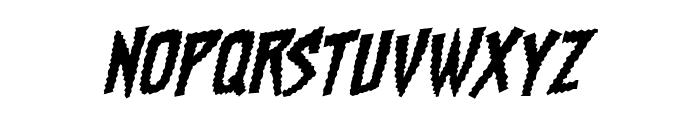 Chainsawz BB Italic Font LOWERCASE