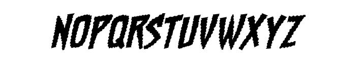ChainsawzBB-Italic Font UPPERCASE