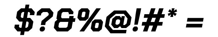 Chakra Petch Bold Italic Font OTHER CHARS