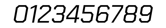 Chakra Petch Italic Font OTHER CHARS