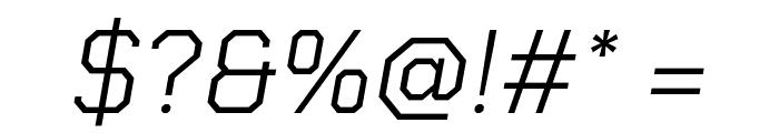 Chakra Petch Light Italic Font OTHER CHARS