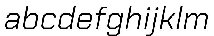Chakra Petch Light Italic Font LOWERCASE