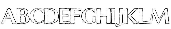Chalk Line Outline Font UPPERCASE