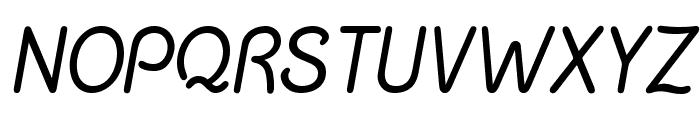 Chalk Marks Italic Font UPPERCASE