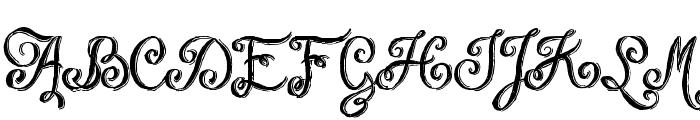 Chalk-hand-lettering-shaded DEM Font UPPERCASE