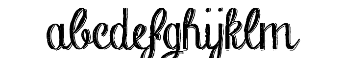 Chalk-hand-lettering-shaded DEM Font LOWERCASE
